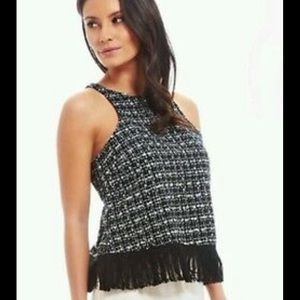 Fashion Union Tweed Boucle Tank Top